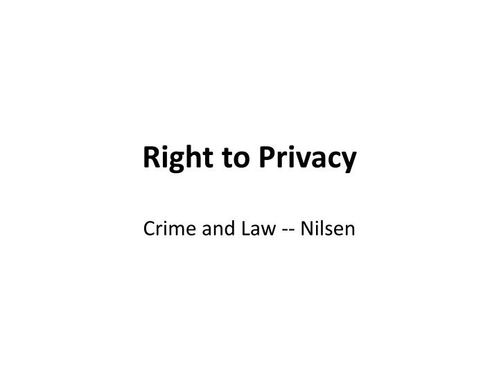 right to privacy n.