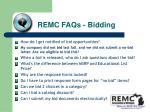remc faqs bidding