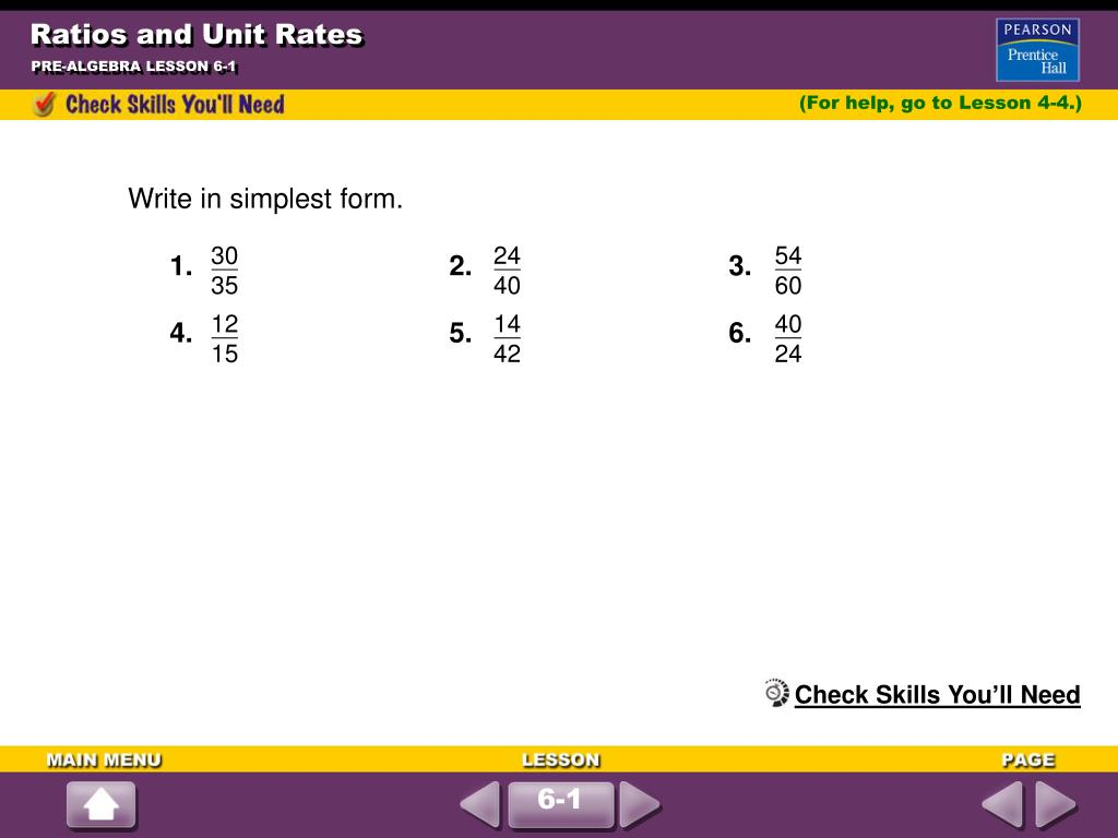 simplest form 21/35  PPT - Ratios and Unit Rates PowerPoint Presentation, free ...