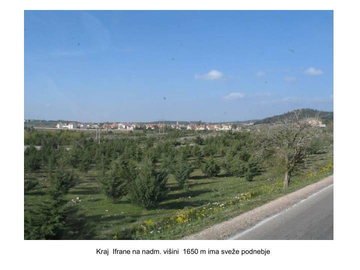 Kraj  Ifrane na nadm. višini  1650 m ima sveže podnebje