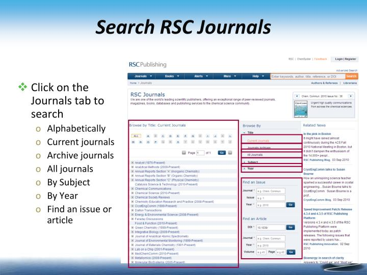 Search RSC Journals