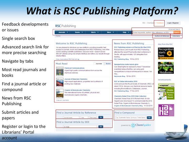 What is rsc publishing platform