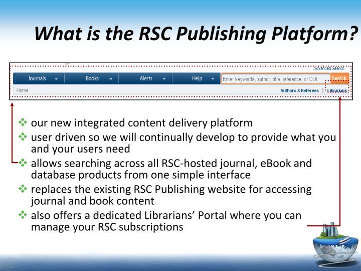 What is the rsc publishing platform