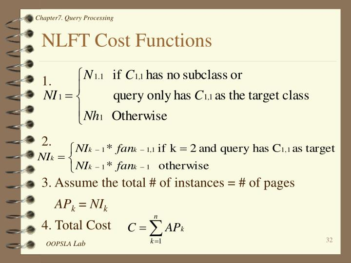 NLFT Cost Functions