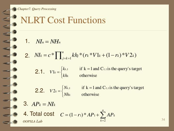 NLRT Cost Functions