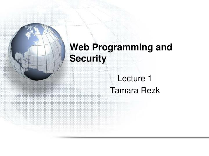 web programming and security n.