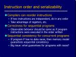 instruction order and serializability