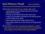 java memory model java lang spec