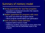 summary of memory model