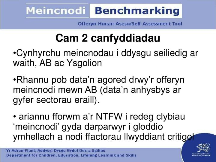 Cam 2 canfyddiadau