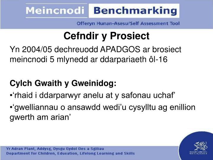 Cefndir y prosiect