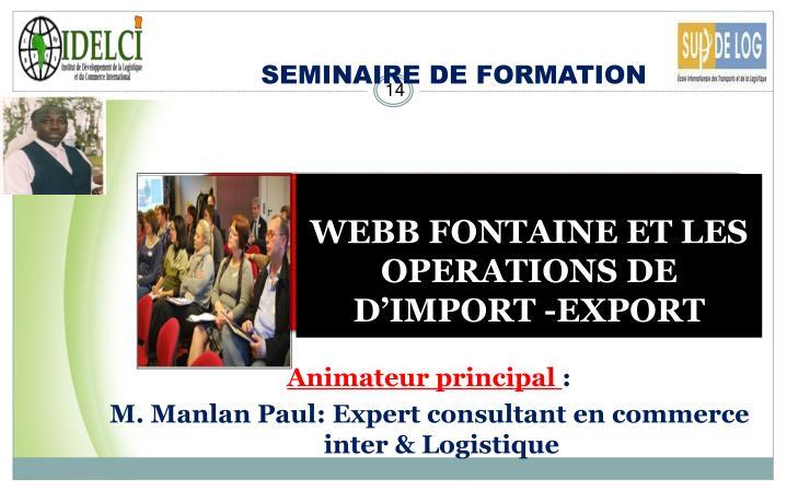 SEMINAIRE DE FORMATION
