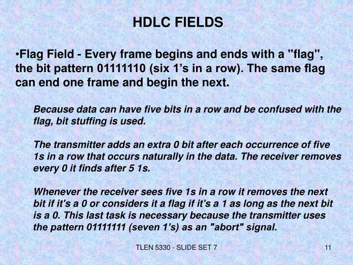 HDLC FIELDS