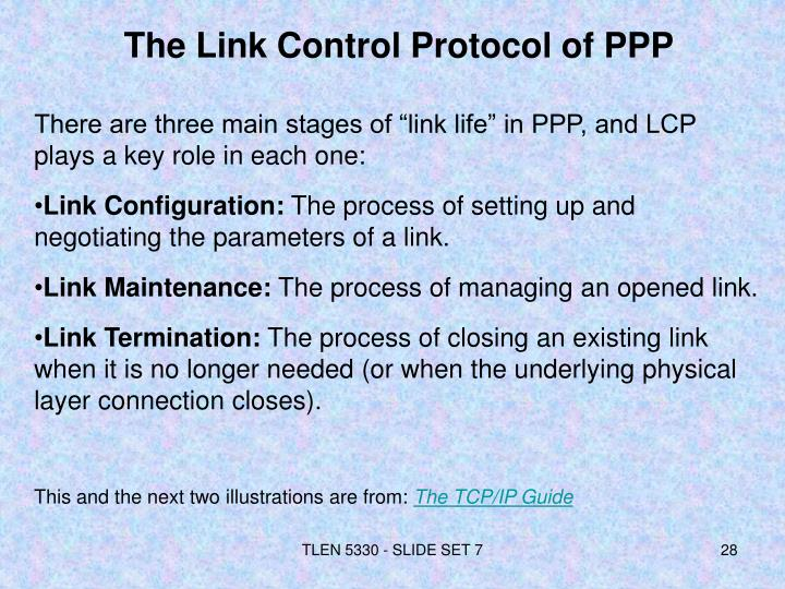 The Link Control Protocol of PPP