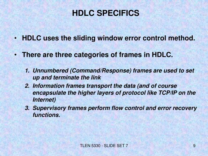 HDLC SPECIFICS