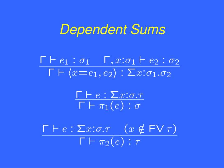 Dependent Sums