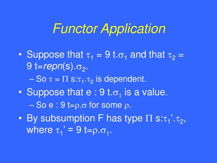 Functor Application