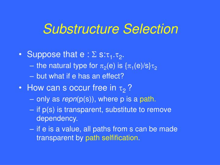 Substructure Selection