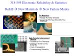 rohs new materials new failure modes