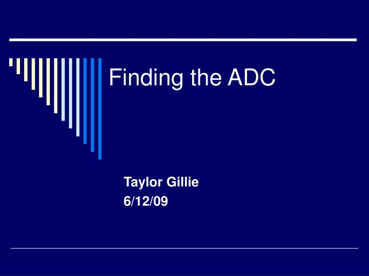 finding the adc n.