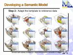 developing a semantic model2