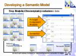 developing a semantic model3