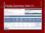 facility summary view 1
