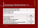 summary performance 1