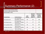 summary performance 2