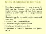effects of harmonics in the system