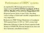 performance of drpc systems