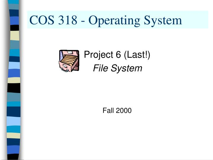 Cos 318 operating system