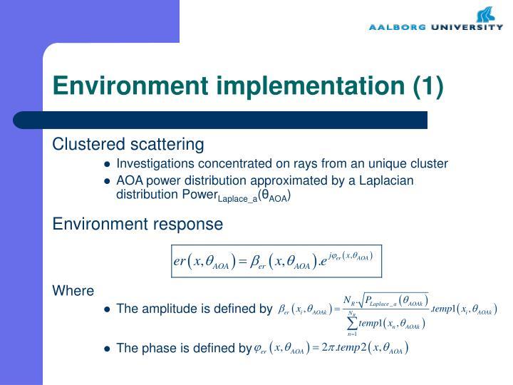 Environment implementation 1
