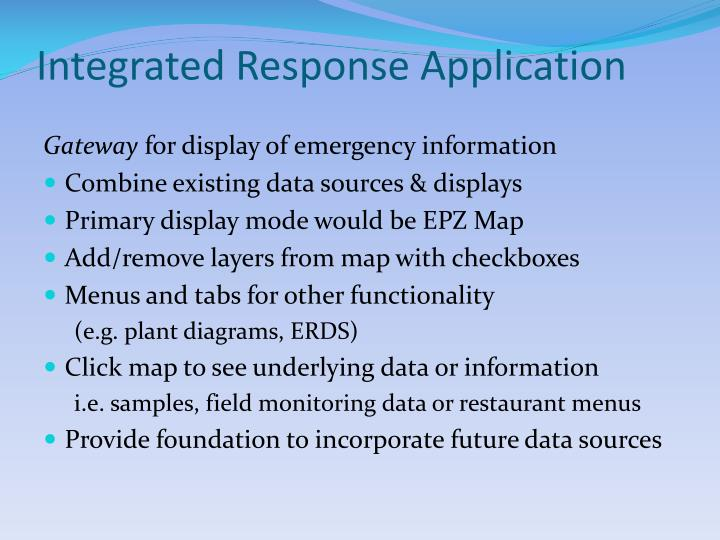 Integrated Response Application
