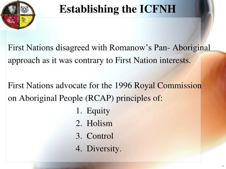 Establishing the ICFNH