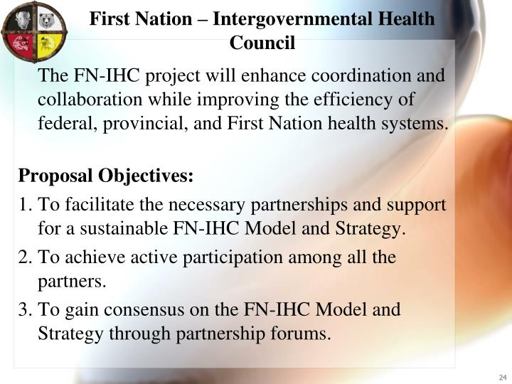 First Nation – Intergovernmental Health Council
