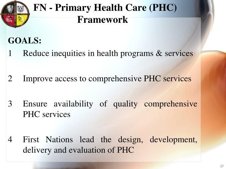 FN - Primary Health Care (PHC) Framework