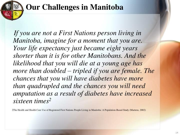 Our Challenges in Manitoba