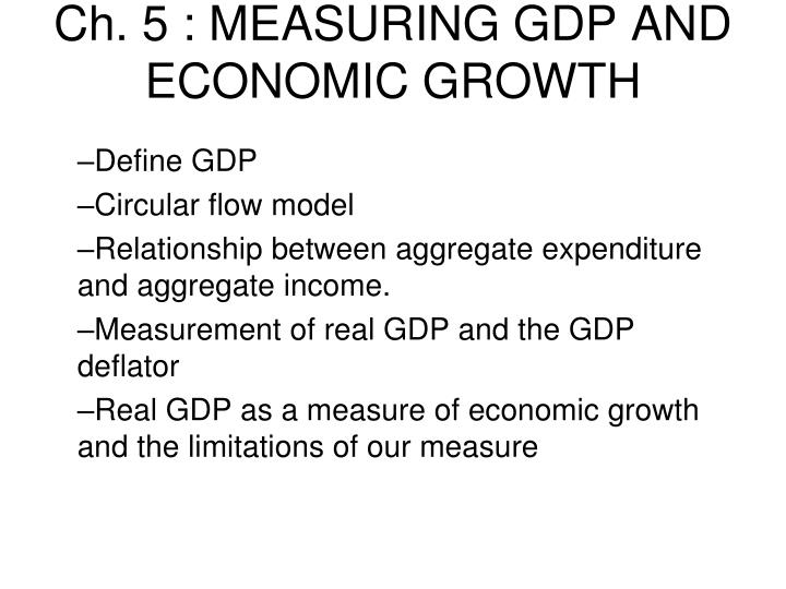 ch 5 measuring gdp and economic growth n.