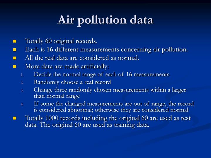 Air pollution data