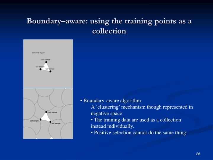 Boundary–aware: using the training points as a collection