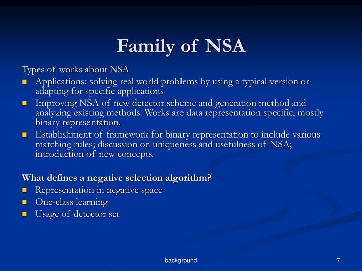 Family of NSA
