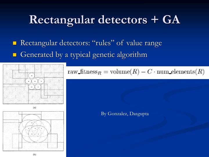 Rectangular detectors + GA