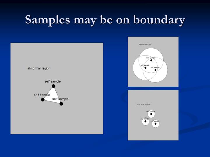Samples may be on boundary