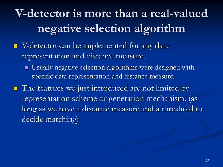 V-detector is more than a real-valued negative selection algorithm