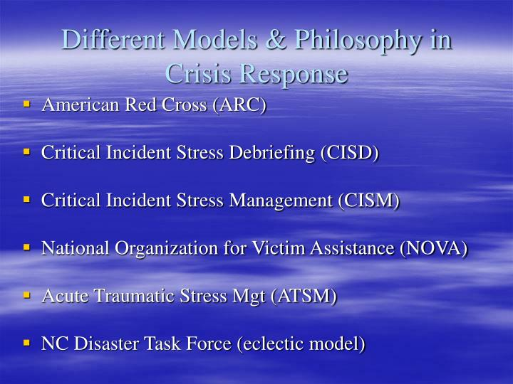 Different Models & Philosophy in