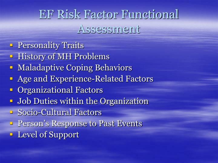 EF Risk Factor Functional Assessment