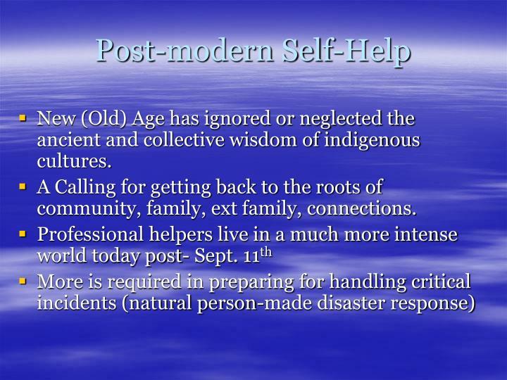 Post-modern Self-Help