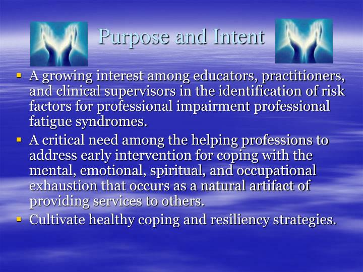 Purpose and Intent