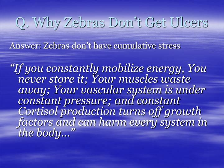 Q. Why Zebras Don't Get Ulcers